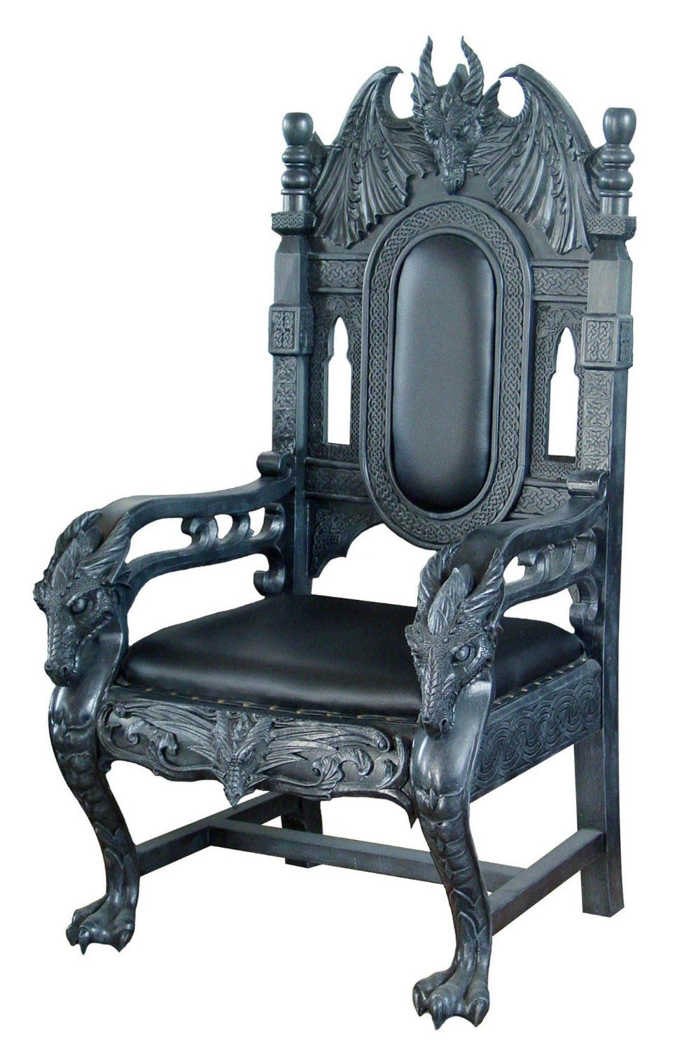 Gothic Dragon King Chair Http Amzn To 106cefg More Dark Dragon  # Muebles Goticos
