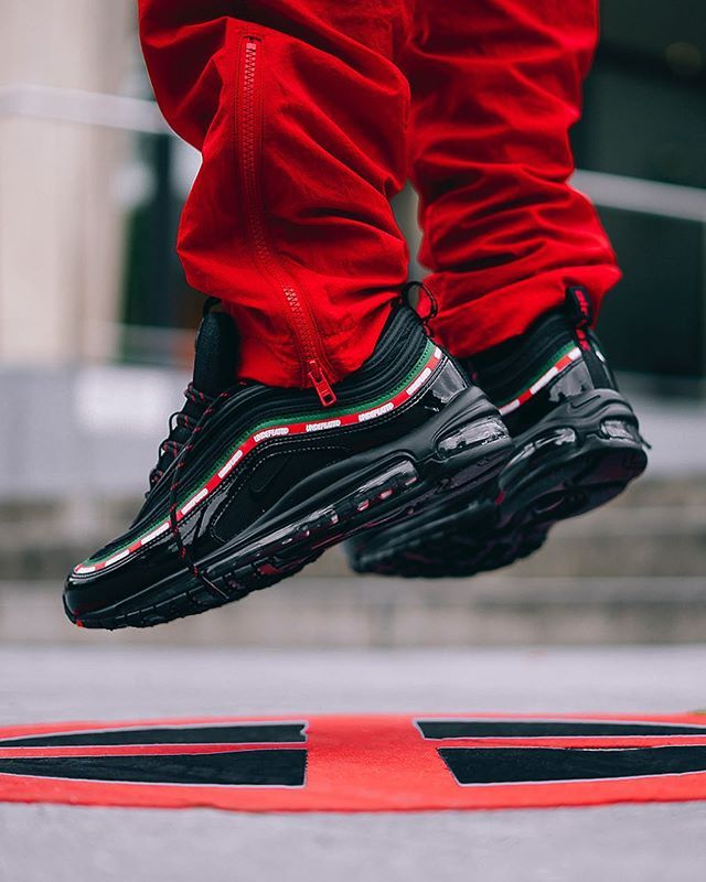 aa3e5f902fa6  hypebeastkicks  A look at the UNDEFEATED x Nike Air Max 97 on feet. Would  you cop or drop  Photo   bstnstore