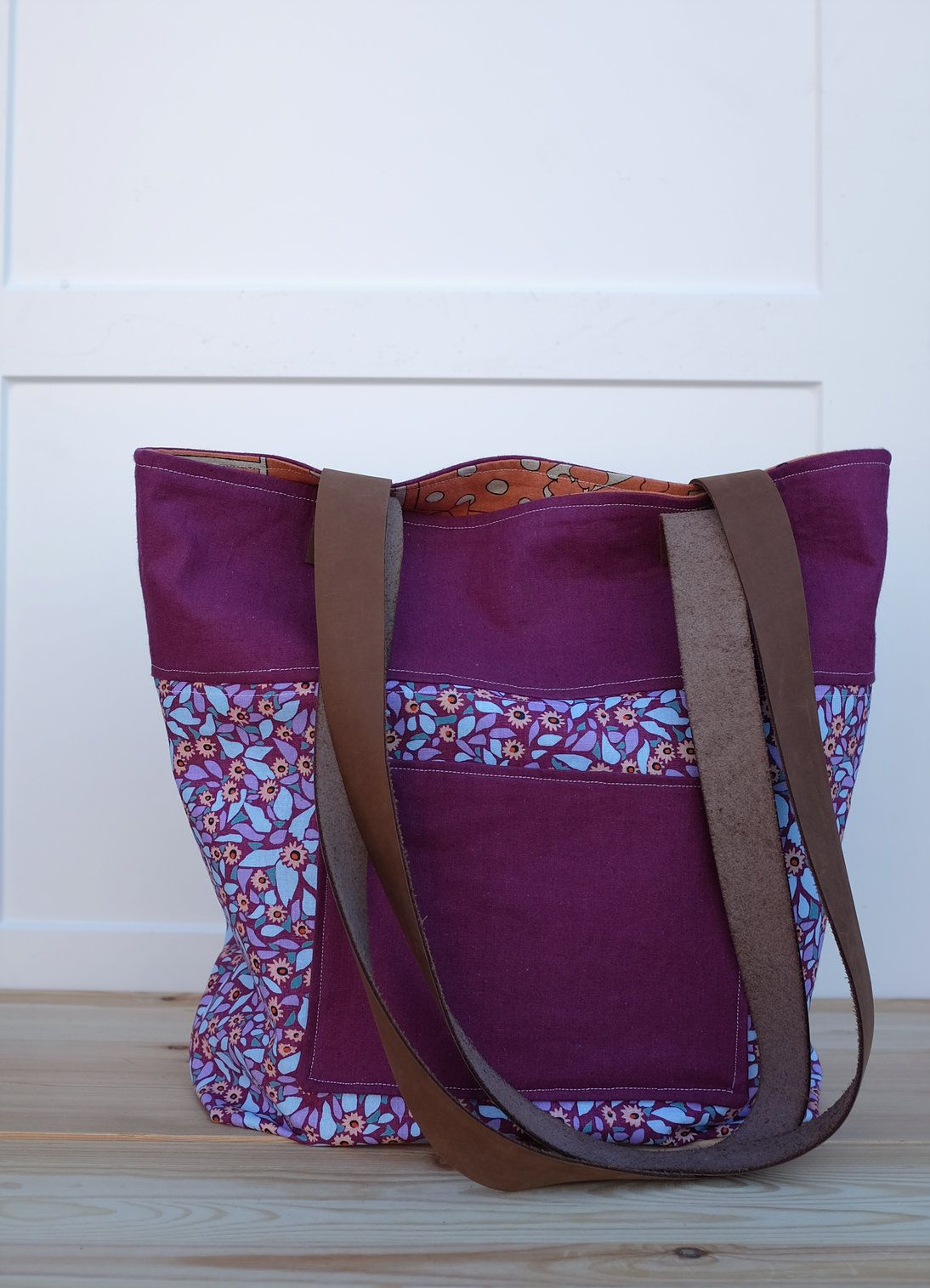 Moderntextiles The Lucille Tote Free Tutorial Bags Free Bag Tote