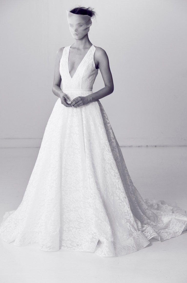 Alyne by rita vinieris flawless lace deep vneck wedding gown spring