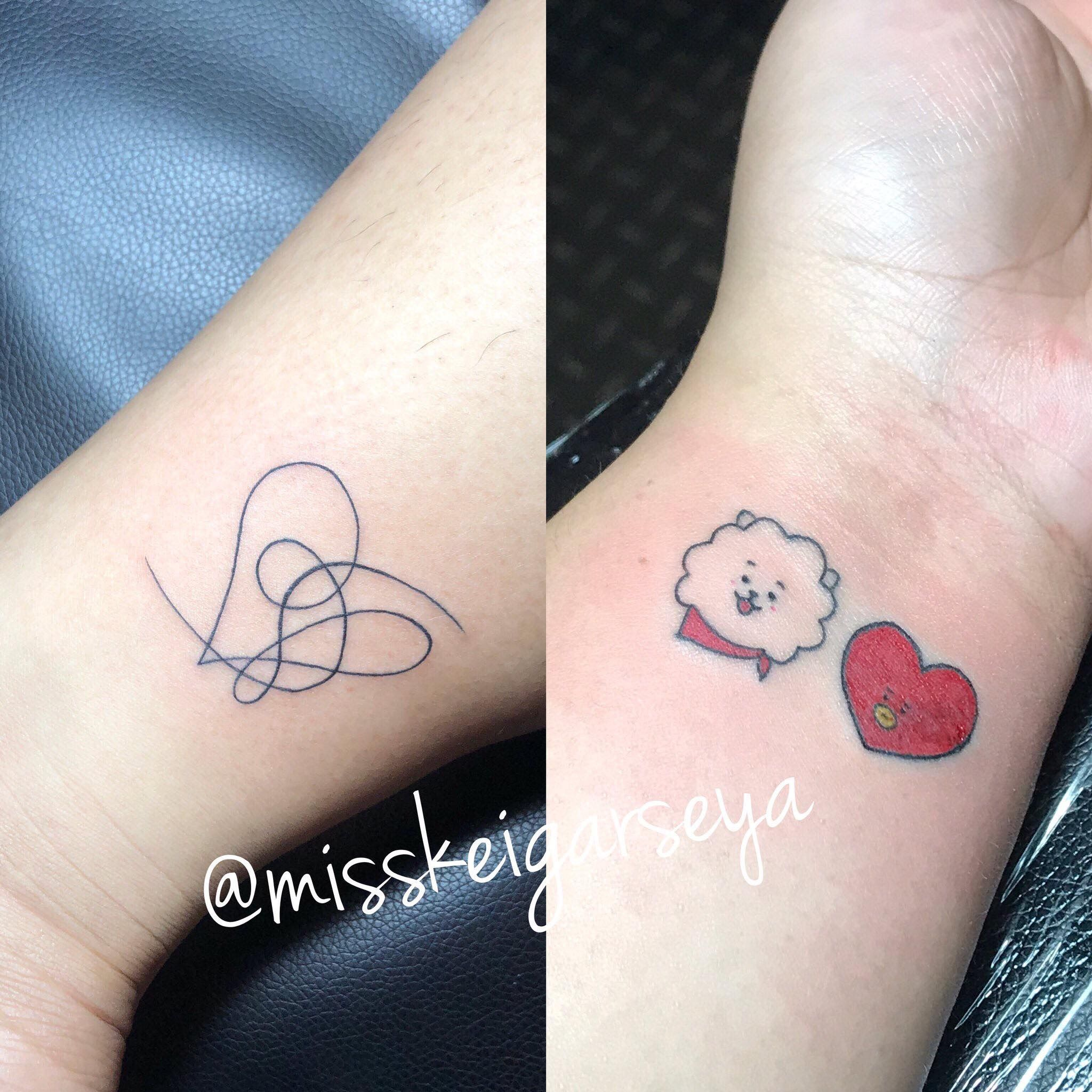 640a8e444 My first BTS x BT21 Tattoo #BTS #BT21 #BTSTATTOO #BT21TATTOO  #LOVEYOURSELFANSWER #RJ #TATA