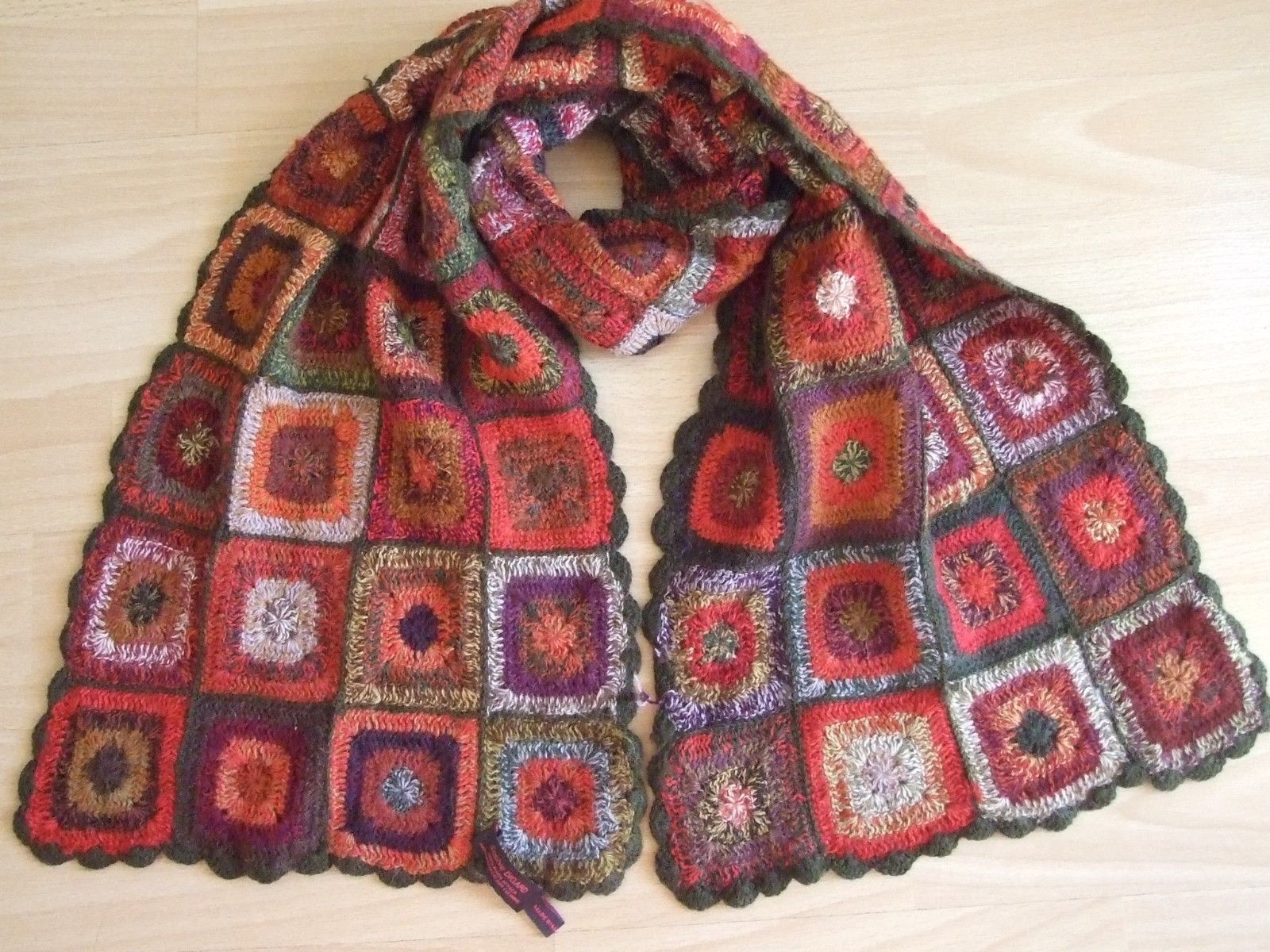 f7d308eaf SOPHIE DIGARD Rare Collector s Crochet 100% Baby Alpaca Scarf Ethno ...