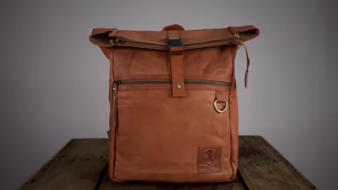 Berliner Bags Berlin Utrecht M Vintage Style Leather Backpack 1