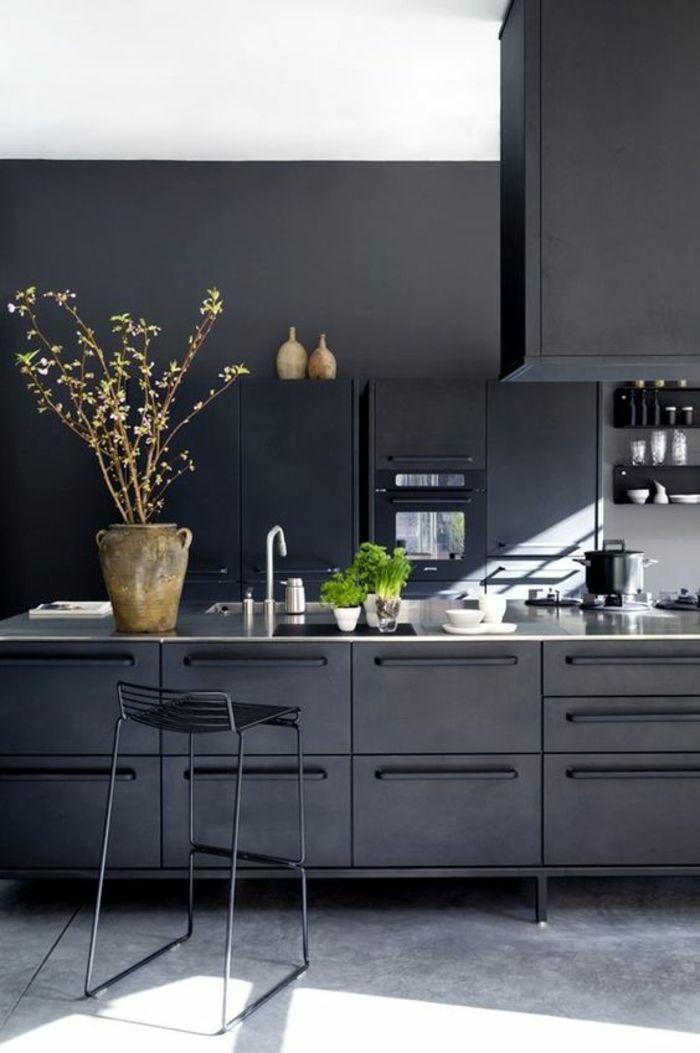 Idées Pour Cuisine Noire Des Conseils Comment L - Carrelage cuisine terre cuite pour idees de deco de cuisine