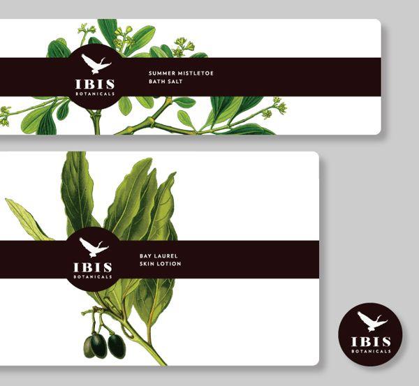 IBIS Botanicals by Morgan Sorensen, via Behance