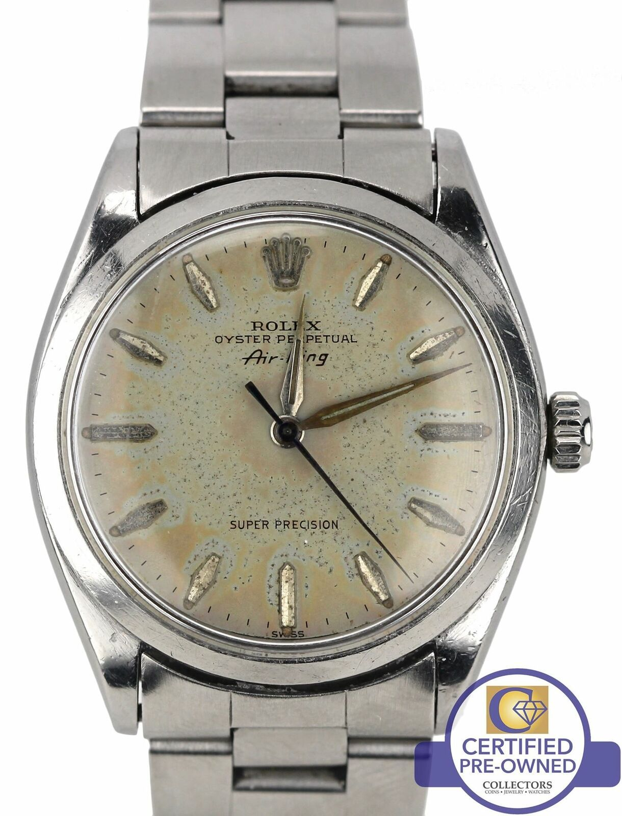 Rolex Oyster Perpetual AirKing Silver Patina Stainless