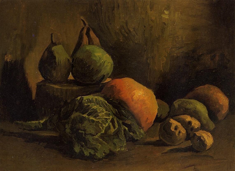 Картина Ван Гога Натюрморт с овощами и фруктами 1885 | Музей ван ...