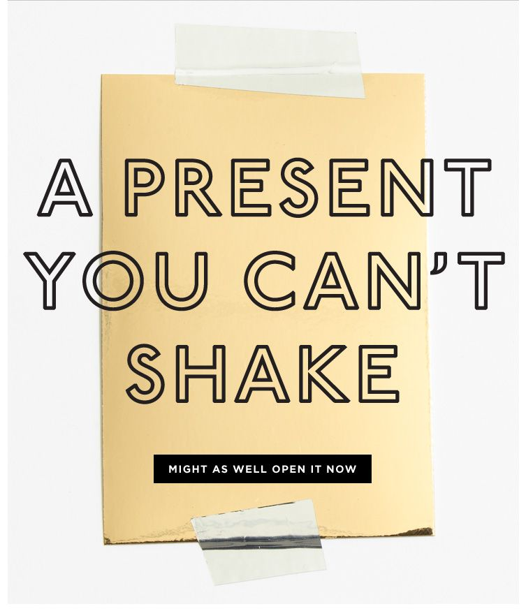 Madewell Open This Gift Early Milled Birthday Email
