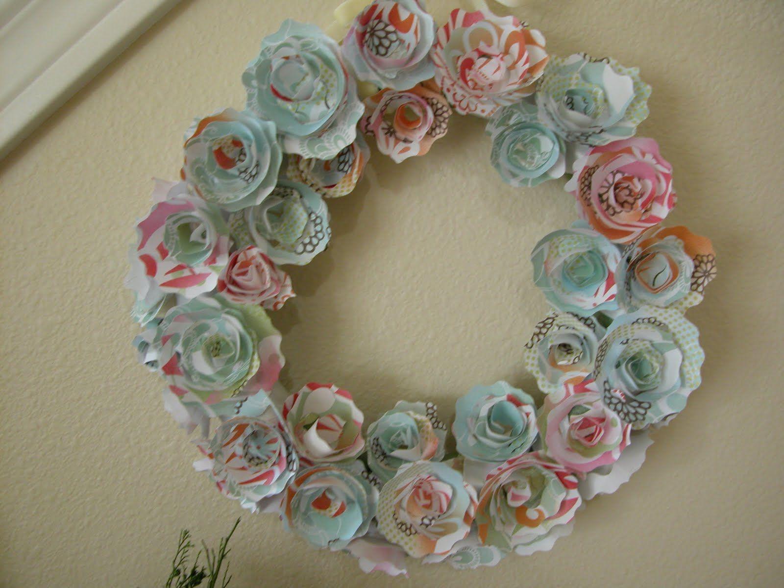 The House Creative Paper Flower Wreath Koszorkwreaths