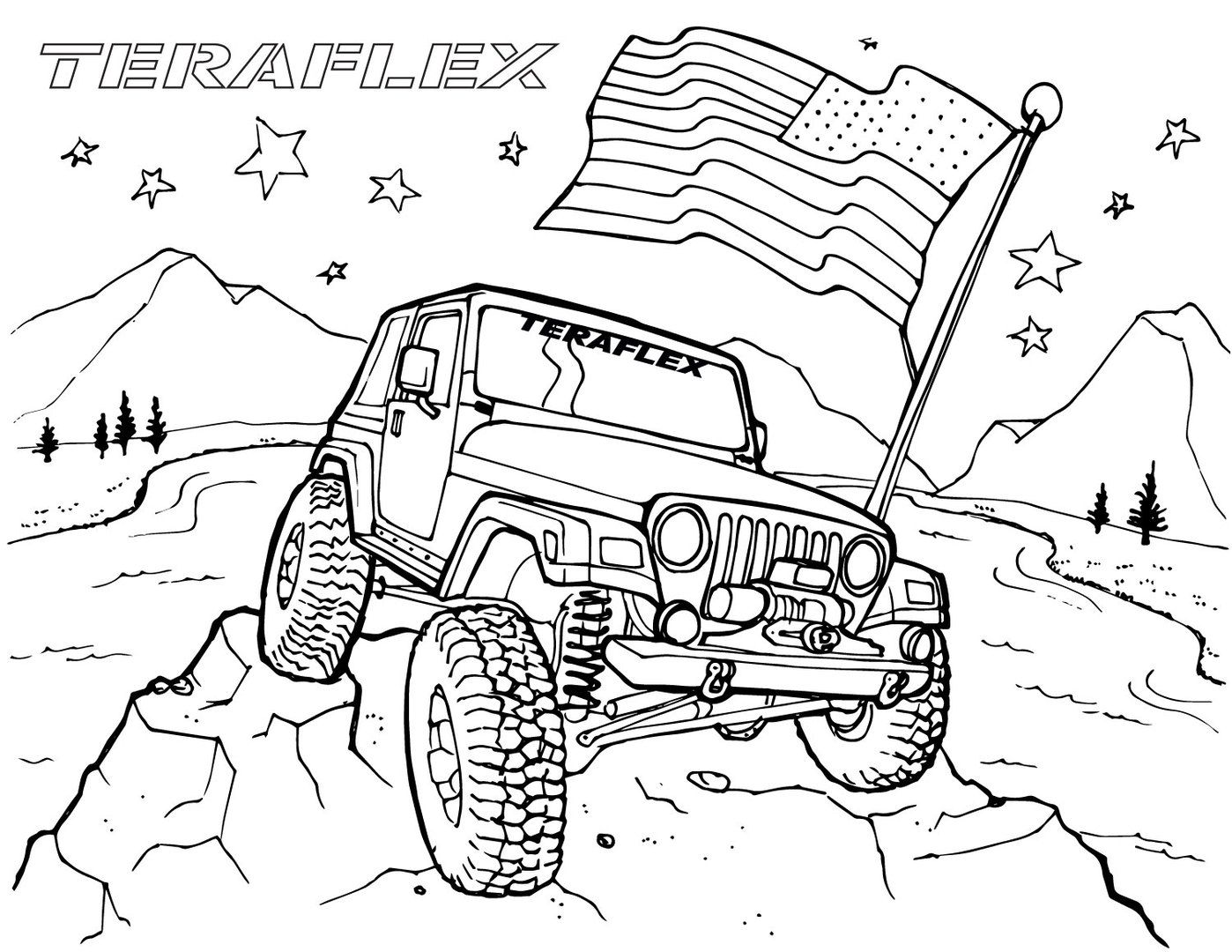 Pin By Greg Knight On Jeep Things Coloring Pages Jeep Art Coloring Pages For Kids