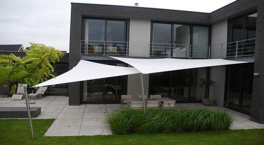 Design meubelen zonz zonnezeil schaduwzeil terras overkapping home