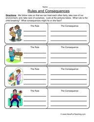 Rules Consequences Worksheet