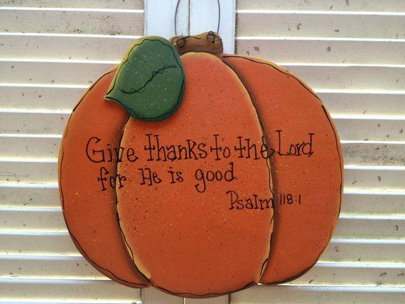 Wooden Pumpkin Bible Verse Sign Fall Home Decor Pumpkin