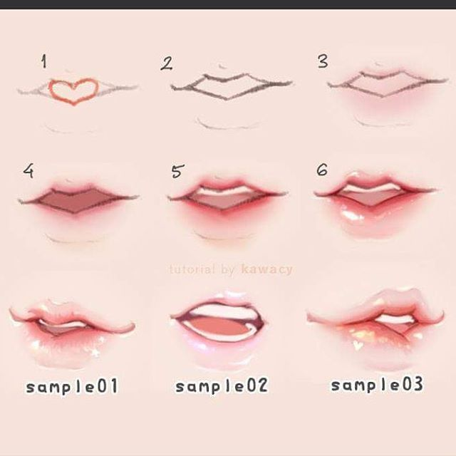 Lip Colouring Drawing Reference This Colouring Method Would Look Really Cute With The Last Lip Reference Sheet I Posted On Lips Drawing Drawings Art Tutorials