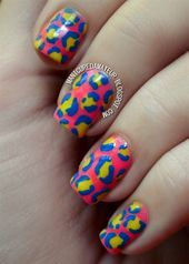 Photo of DIY Neon Leopard Print by manicureamateur  Nail Art Gallery nailartgallery.na..