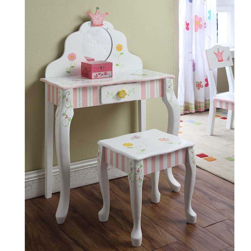 Princess Girls Vanity Set | Girls Vanity Table Set | Quilts Just 4 ...