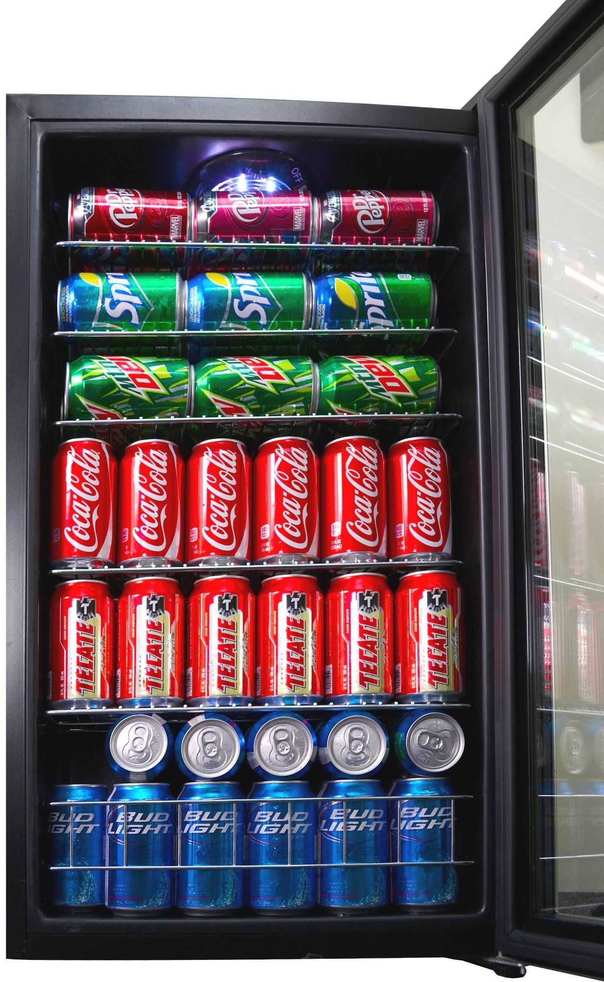 Newair Beverage Cooler And Refrigerator Mini Fridge With Glass Door Perfect For Soda Beer Or Wine 126can Cap Beverage Cooler Wine Gift Baskets Game Room Family