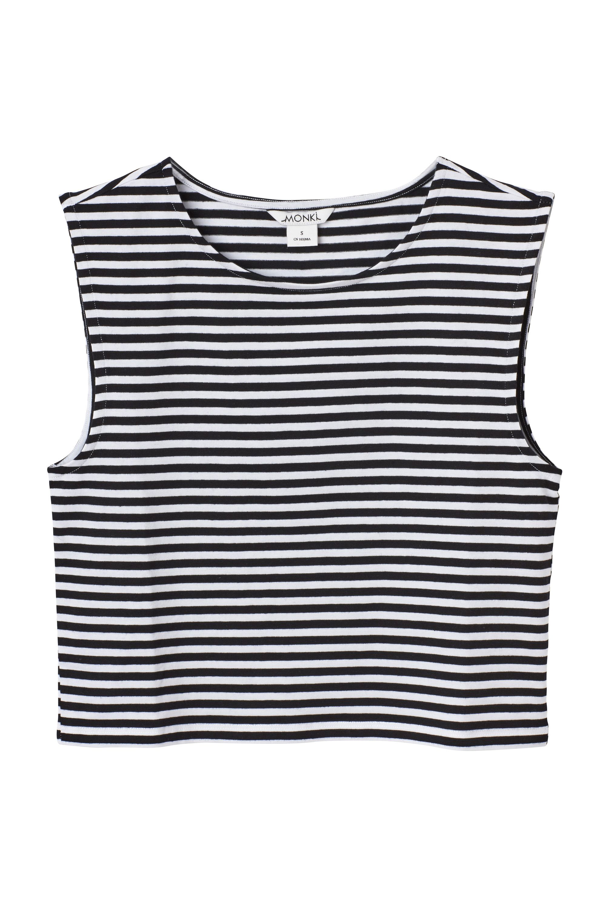 8a0b2f3d1 More BNW Stripes Black And White Tops, Statement Tees, Latest Tops, Monki,