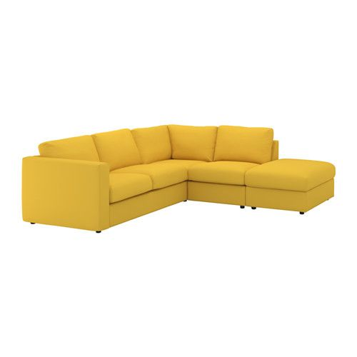 IKEA VIMLE Corner Sofa, 4 Seat With Open End/gräsbo Golden Yellow This Soft  And Cosy Sofa Will Have A Long Life As The Seat Cushions Are Filled With  High.
