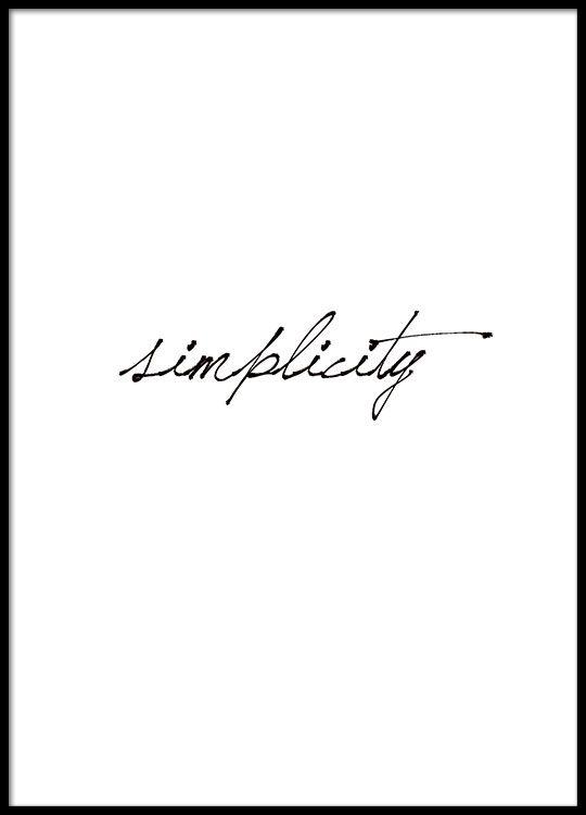 Stilvolles Schwarz-Weiß-Poster, schön zu einer minimalistischen Einrichtung.