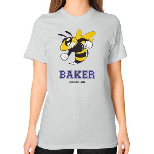 Baker High School Unisex T-Shirt (on woman)