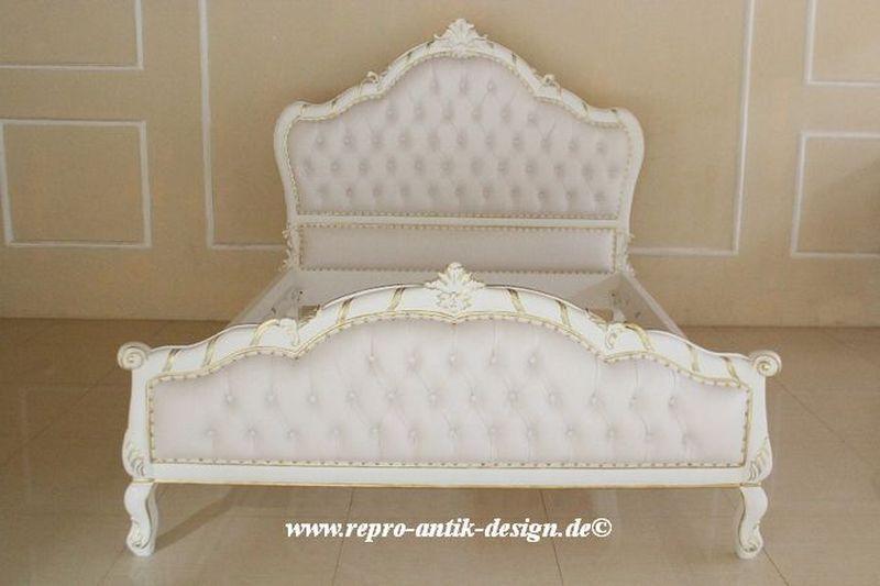 barock bett antik louis xv barockbett prunk wei gold edel vintage neu 160 cm wohnideen. Black Bedroom Furniture Sets. Home Design Ideas