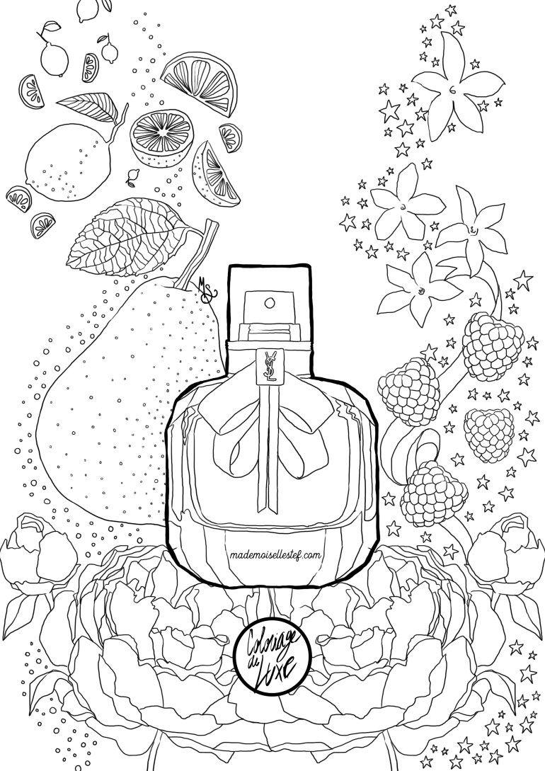 Coloring book yves saint laurent - Coloriage Mon Paris Ysl Parfum Yves Saint Laurent