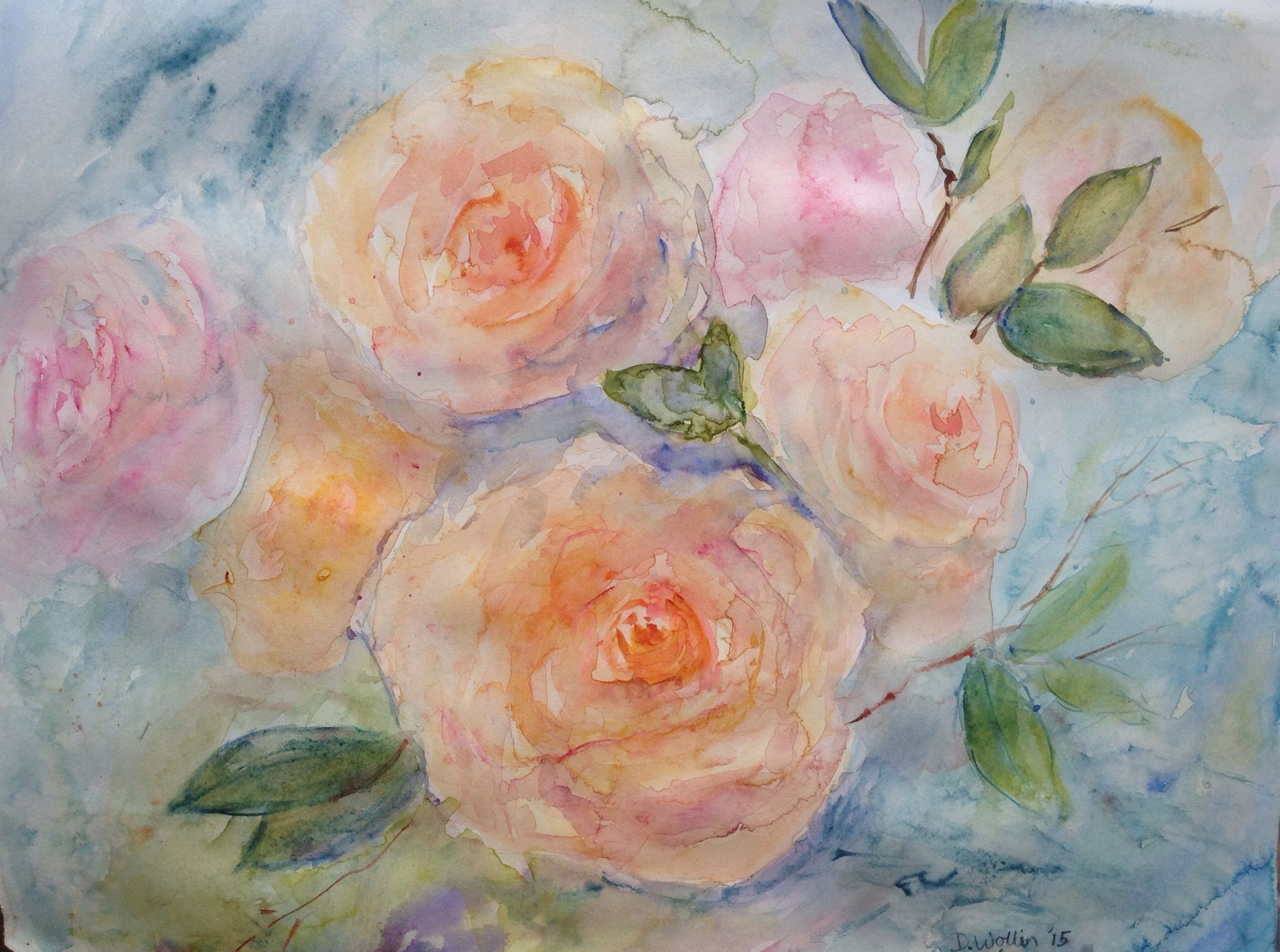 Watercolour on hot pressed paper