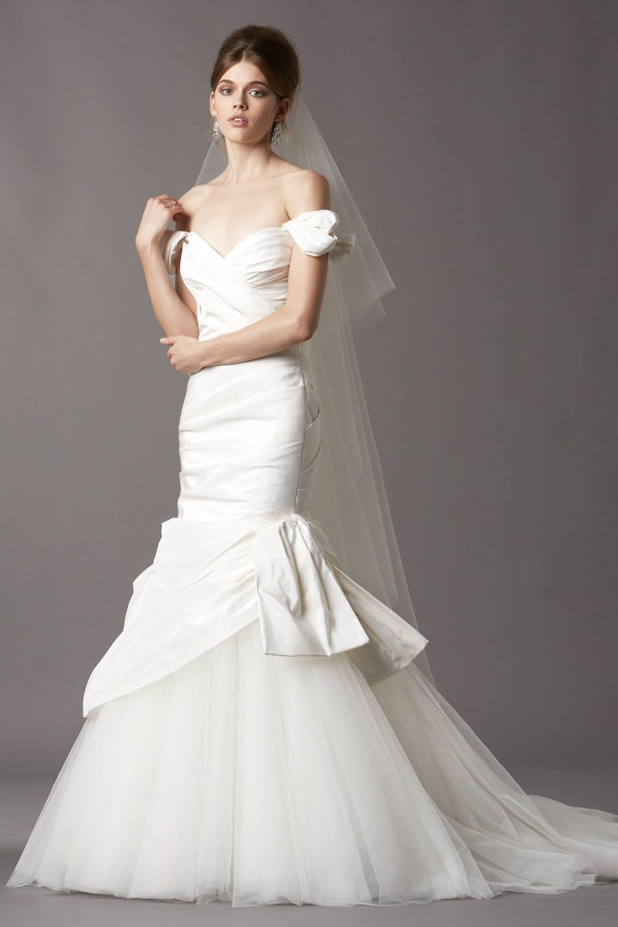 44++ Tulle off the shoulder a line wedding dress ideas in 2021