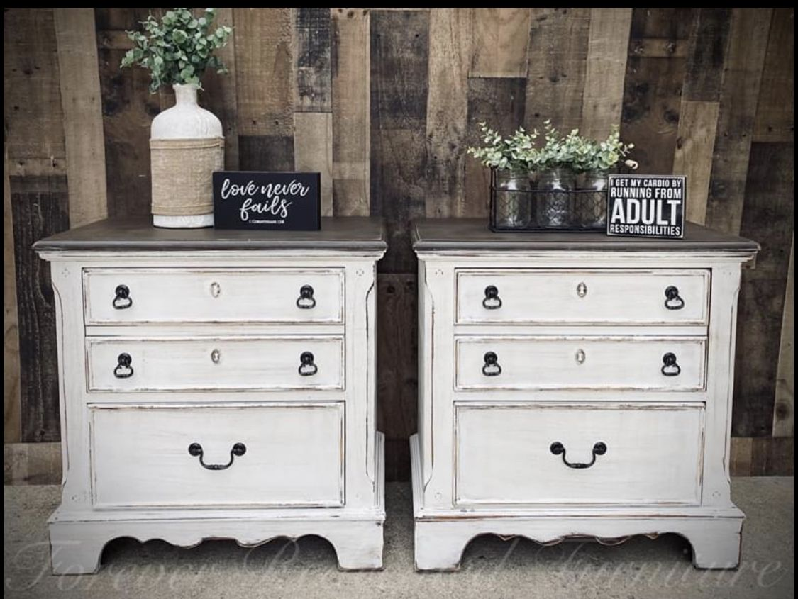 Farmhouse Nighstands in 2020 Master bedroom furniture