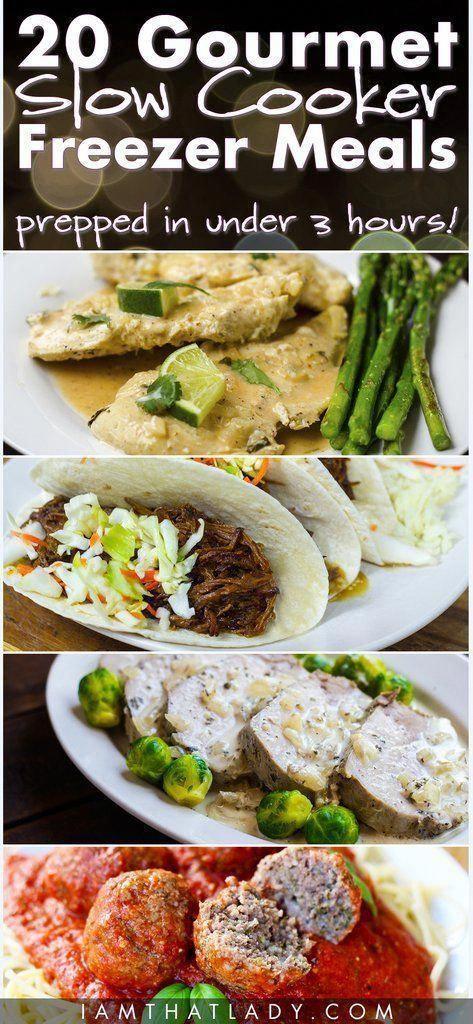 Meal Plan #3 - 20 Gourmet Slow Cooker Freezer Meals #gourmetmeals