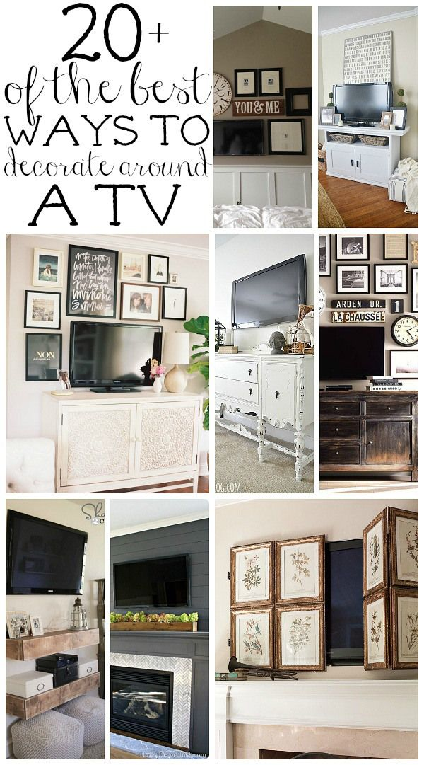 How To Decorate Around A Tv Decor Around Tv Home Decor Wall Decor Living Room