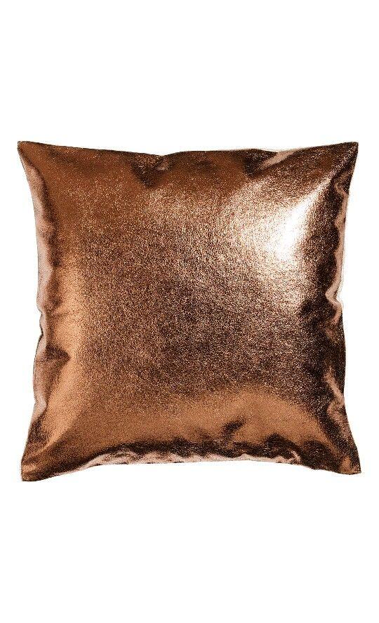 H M Home Copper Pillow Kupfer Deko Kissen Kissenhullen