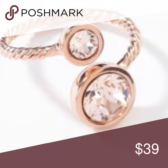 a223a7dac Touchstone Crystal Swarovski curled up ring 8 NIB Curled up ring in rose  go,d plated blush by Swarovski for touchstone crystal. New in box size 8  Swarovski ...
