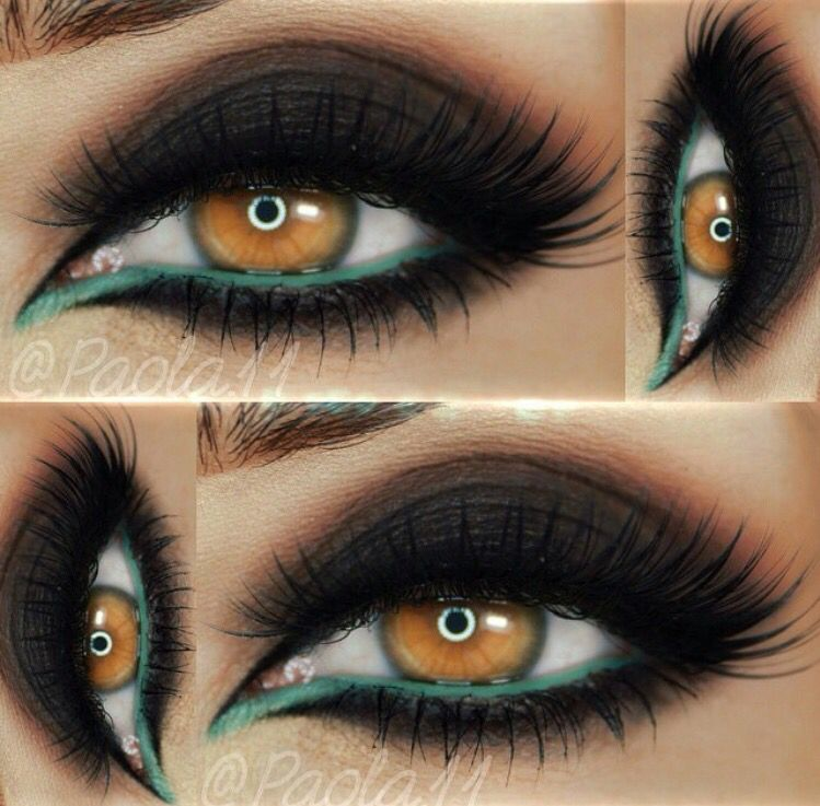 Color pop on dark smokey eyes
