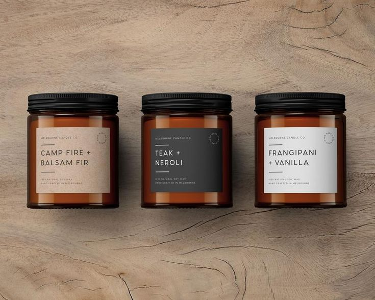 Monochrome Minimal Candle Label Template - Custom