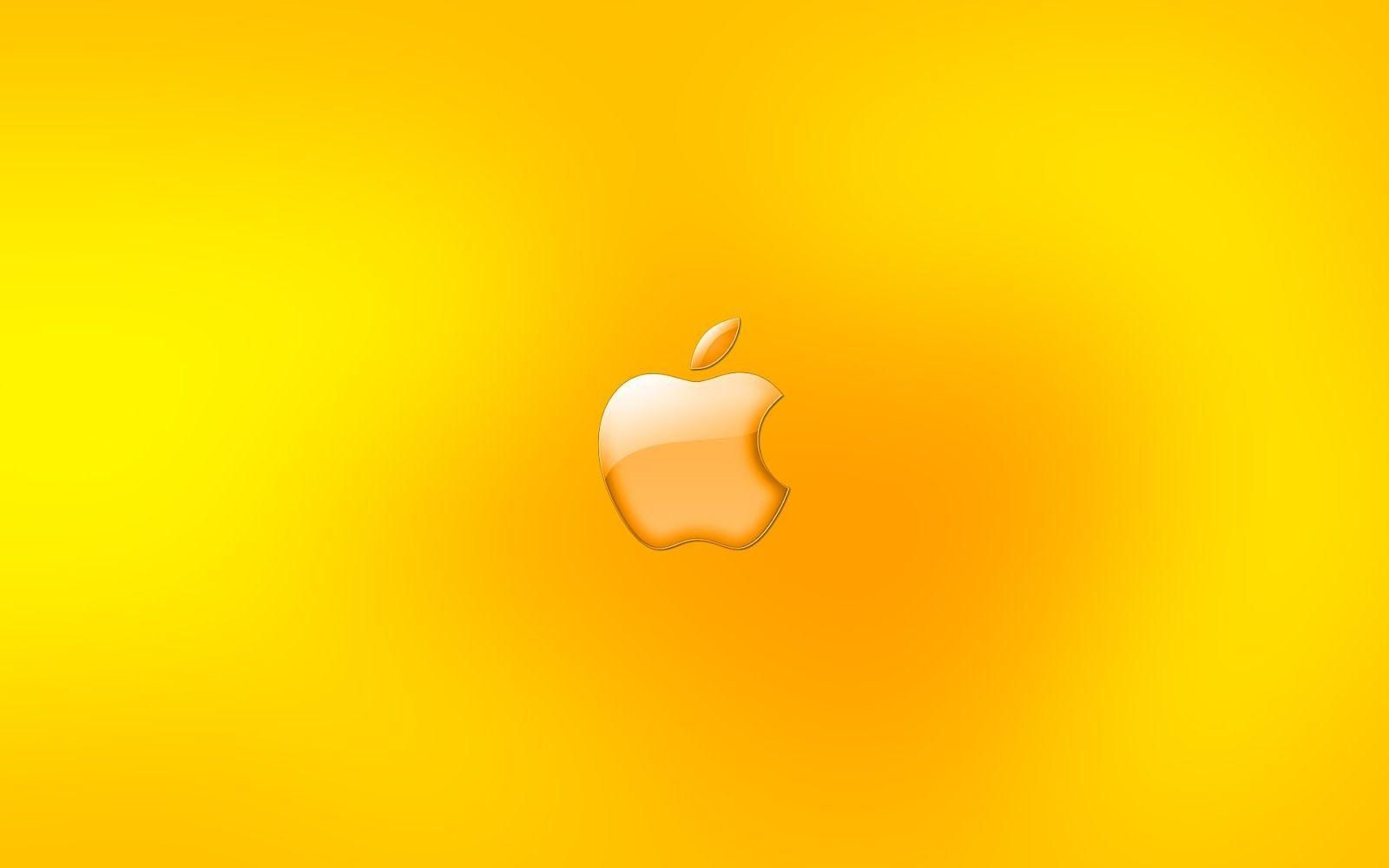 Free Download Yellow Backgrounds For Mac Apple Logo Wallpaper Yellow Wallpaper Wallpaper Iphone Summer