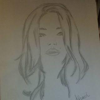 Gypsy's Doodles: Portrait of a Woman #art #artist  #doodle #drawing #illustration #pencil  #sketch #girl #portrait #woman