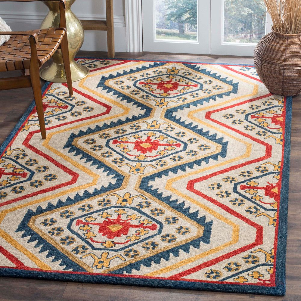 Hand Tufted Made In India Of Fine Wool Return Policy 30 Days Southwestern Area Rugs Area Rugs Rugs