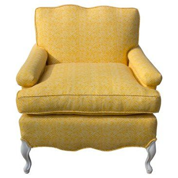 Check out this item at One Kings Lane! Yellow & White Chair