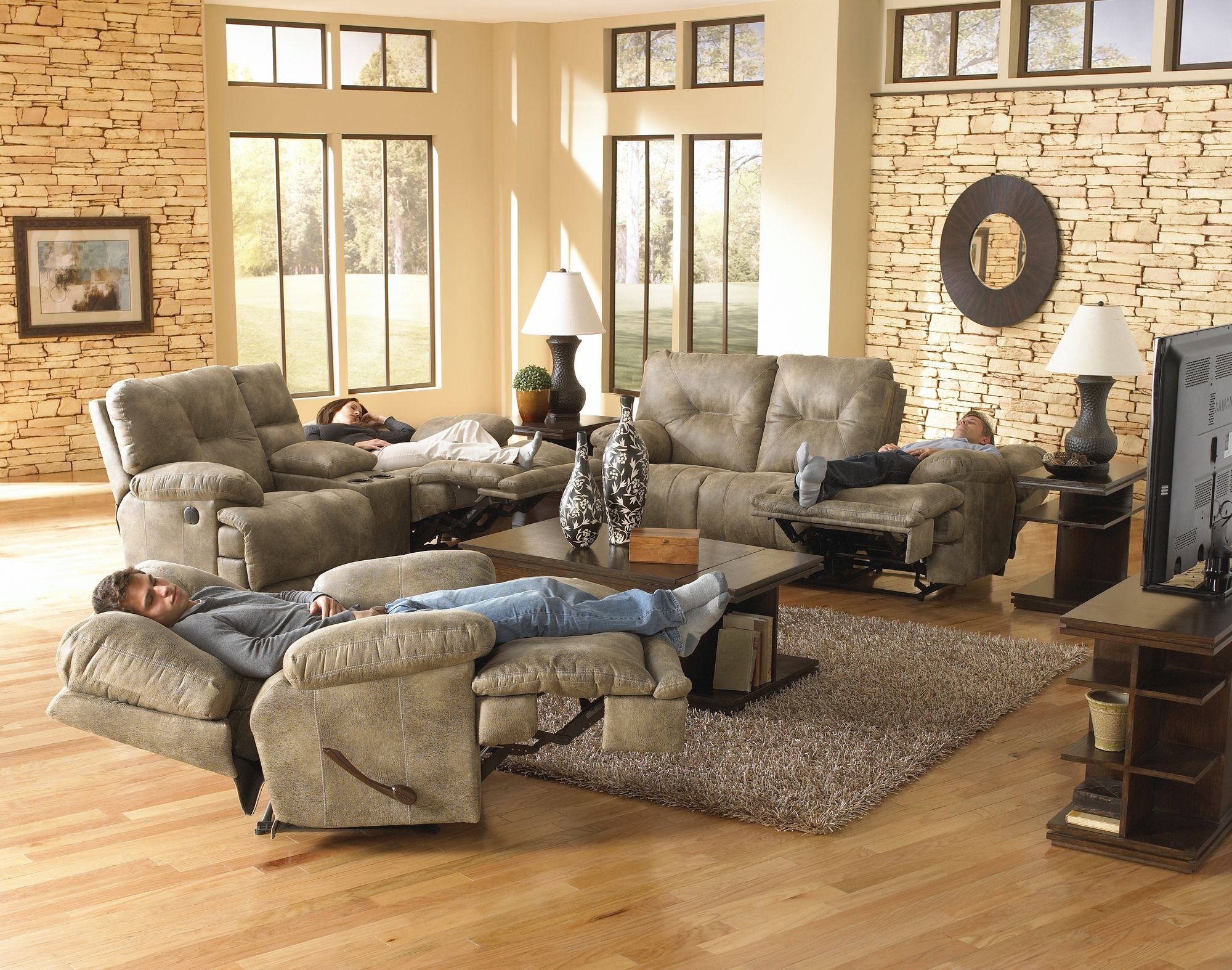 4389 Catnapper Voyager Lay Flat Console Reclining Lovese Available In Several Colo Reclining Sofa Living Room Living Room Sets Reclining Sofa
