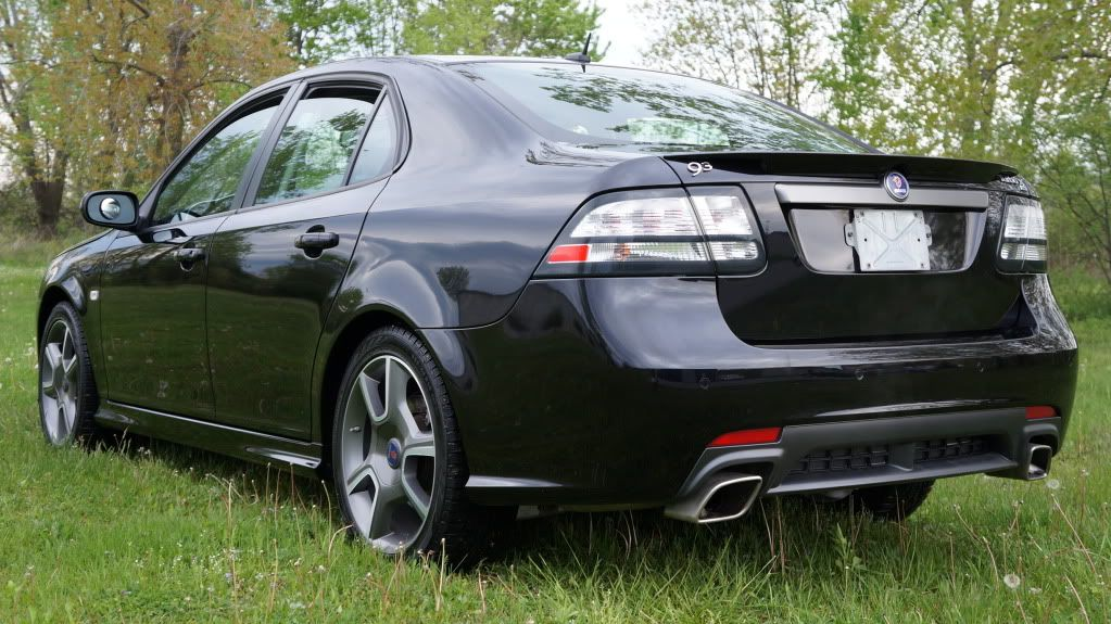 Saab 9 3 Turbo X Rear Center Car Photo Voitures Musclées Voiture