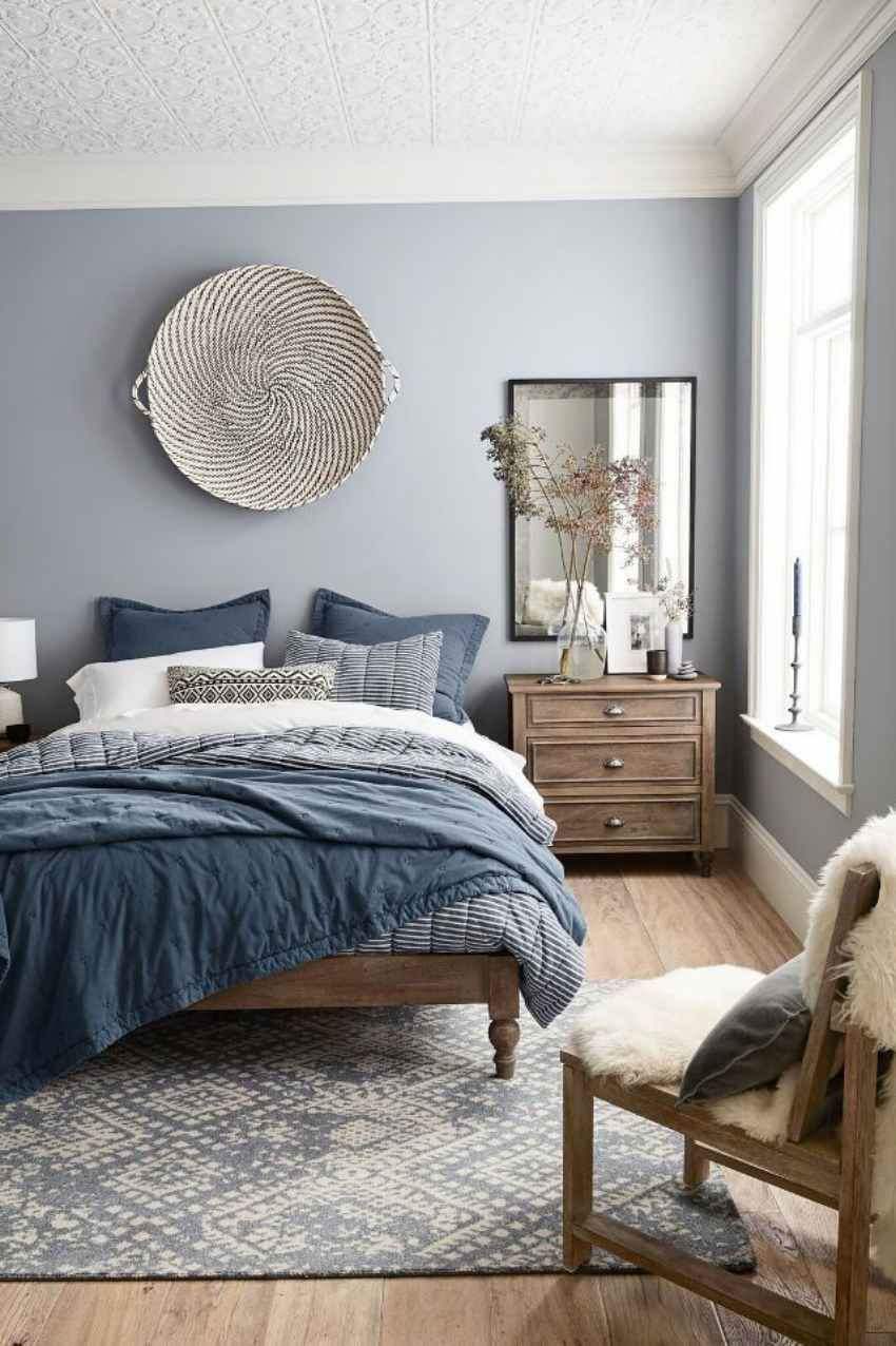 8 Paint Colors That Will Make Your Small Spaces Look Bigger Blue Master Bedroom Home Decor