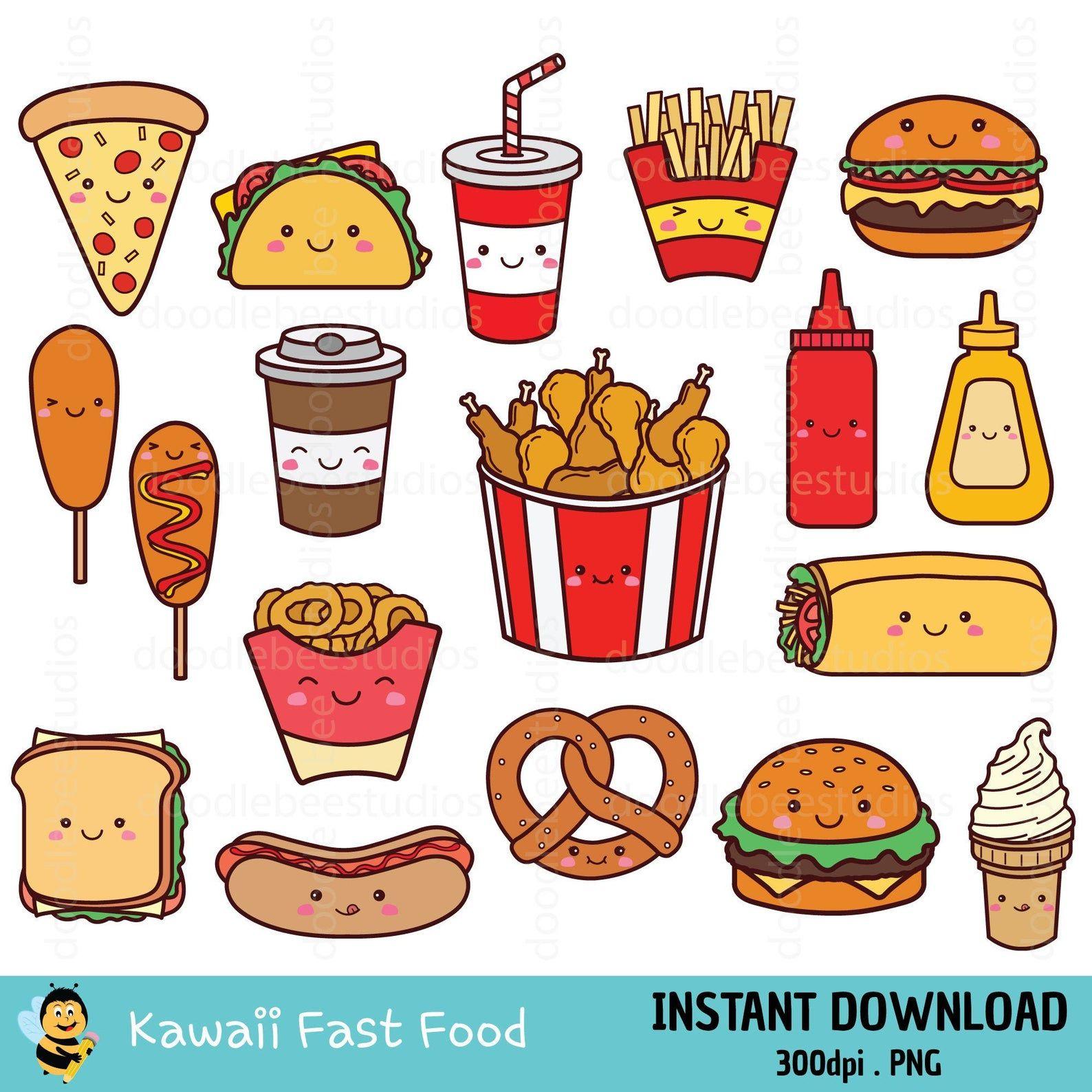 Kawaii Fast Food Clipart Fast Food Clipart Fast Food Clip Art Cute Fast Food Clipart Fast Food Icons Kawaii Fast Food Icons Food Clipart Clip Art Food Clips