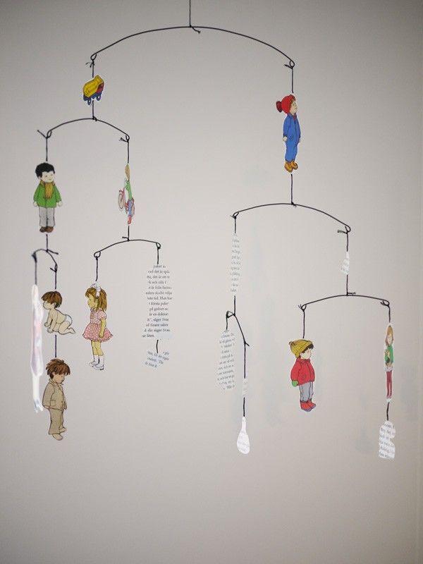 cut paper hanging mobile about a boy room for more. Black Bedroom Furniture Sets. Home Design Ideas