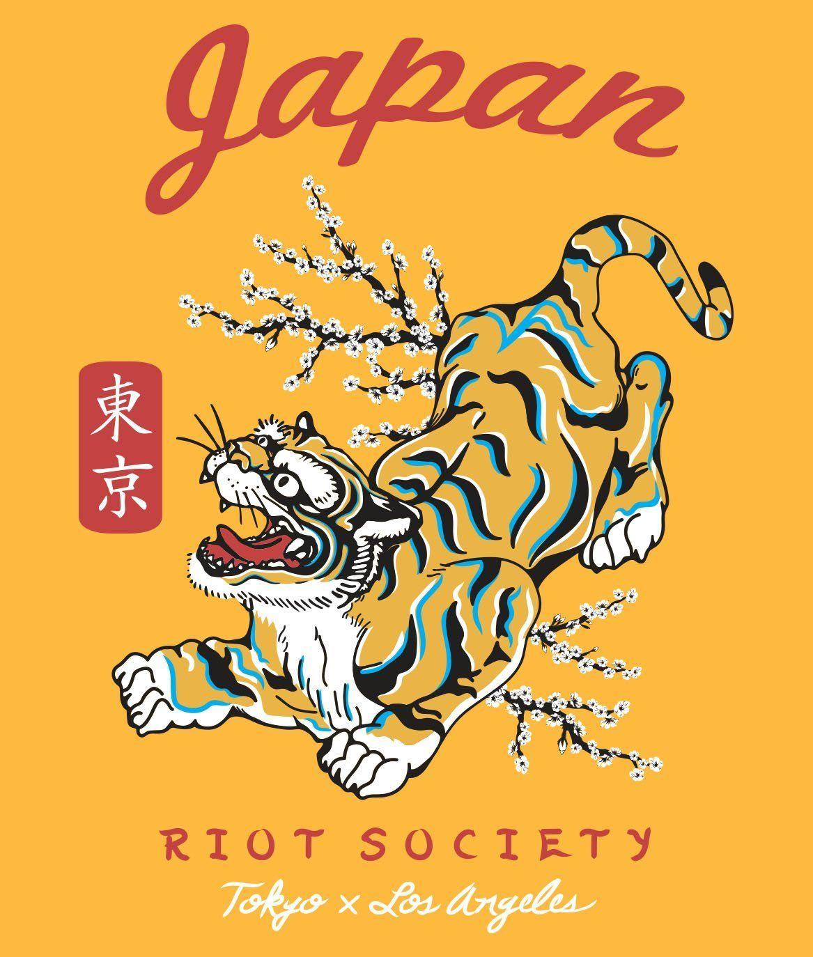 0e106a642f Tiger Blossom Mens T-Shirt - - Riot Society | Screen T Shirt ...