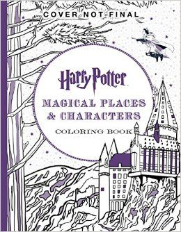 Harry Potter Magical Places Characters Coloring Book Scholastic 9781338030013 Amazon