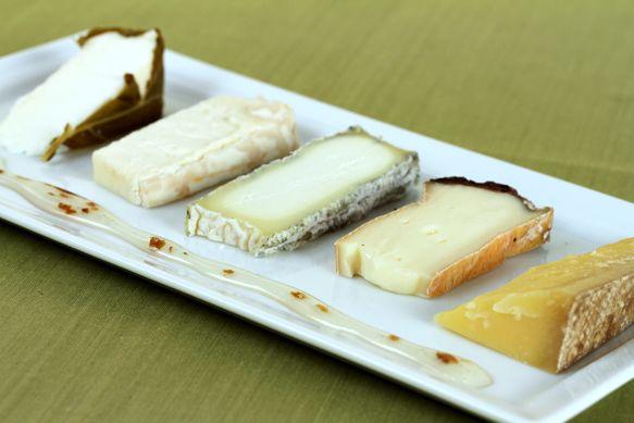 Cheese and truffle honey