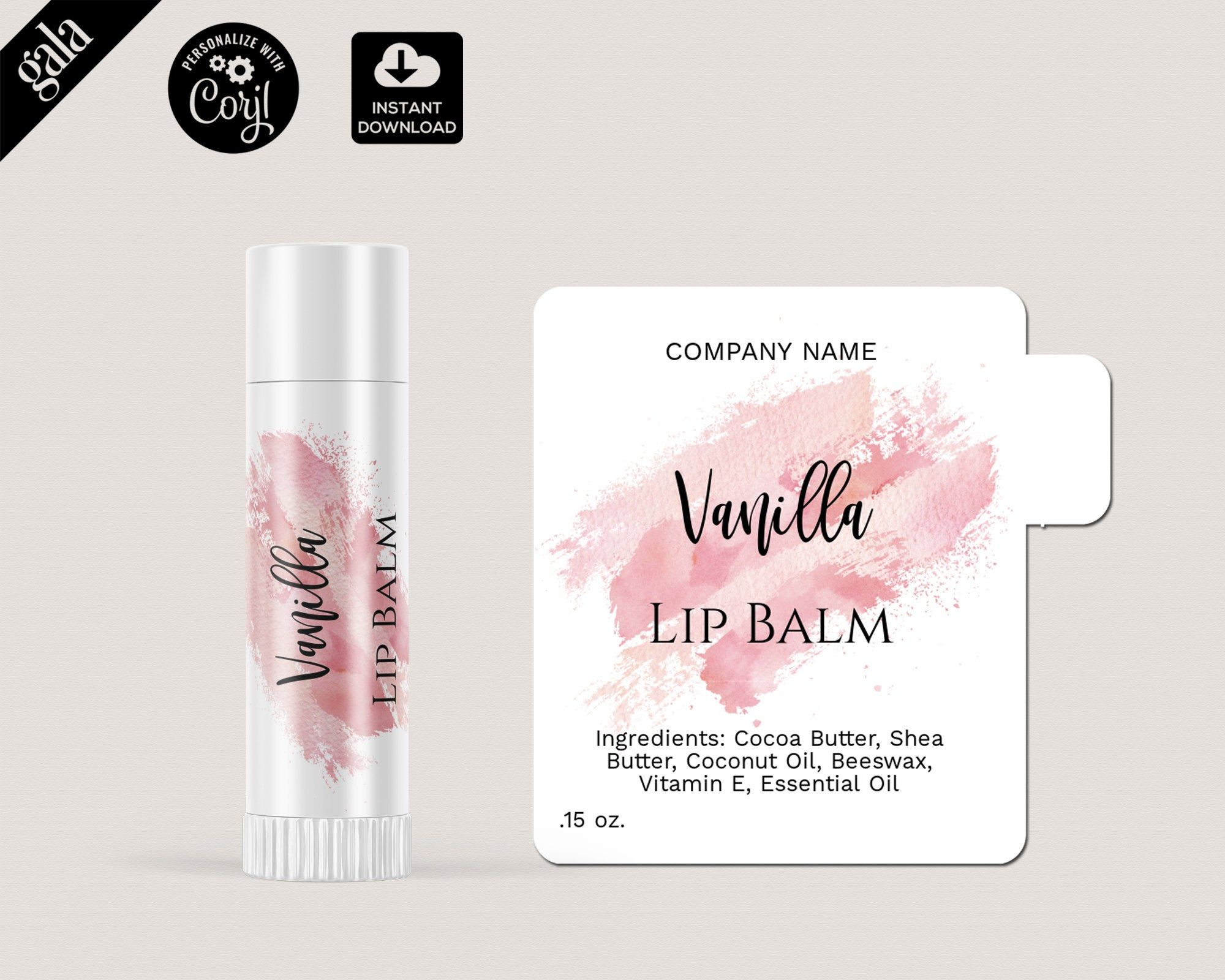Lip Balm Labels Template Diy Product Label Editable Lip Balm Etsy In 2021 Lip Balm Labels Template Lip Balm Labels The Balm