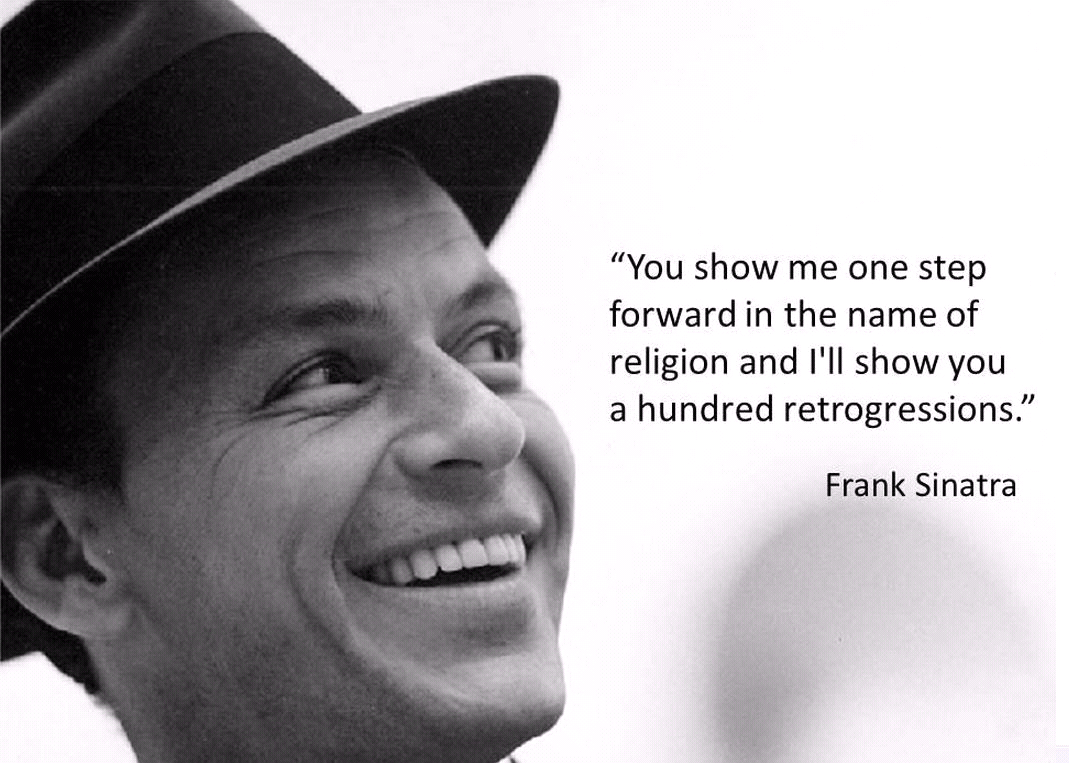 Sinatra Quotes Old Blue Eyes Religion & The Bible  Pinterest  More